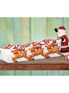 Santa Sleigh Dish