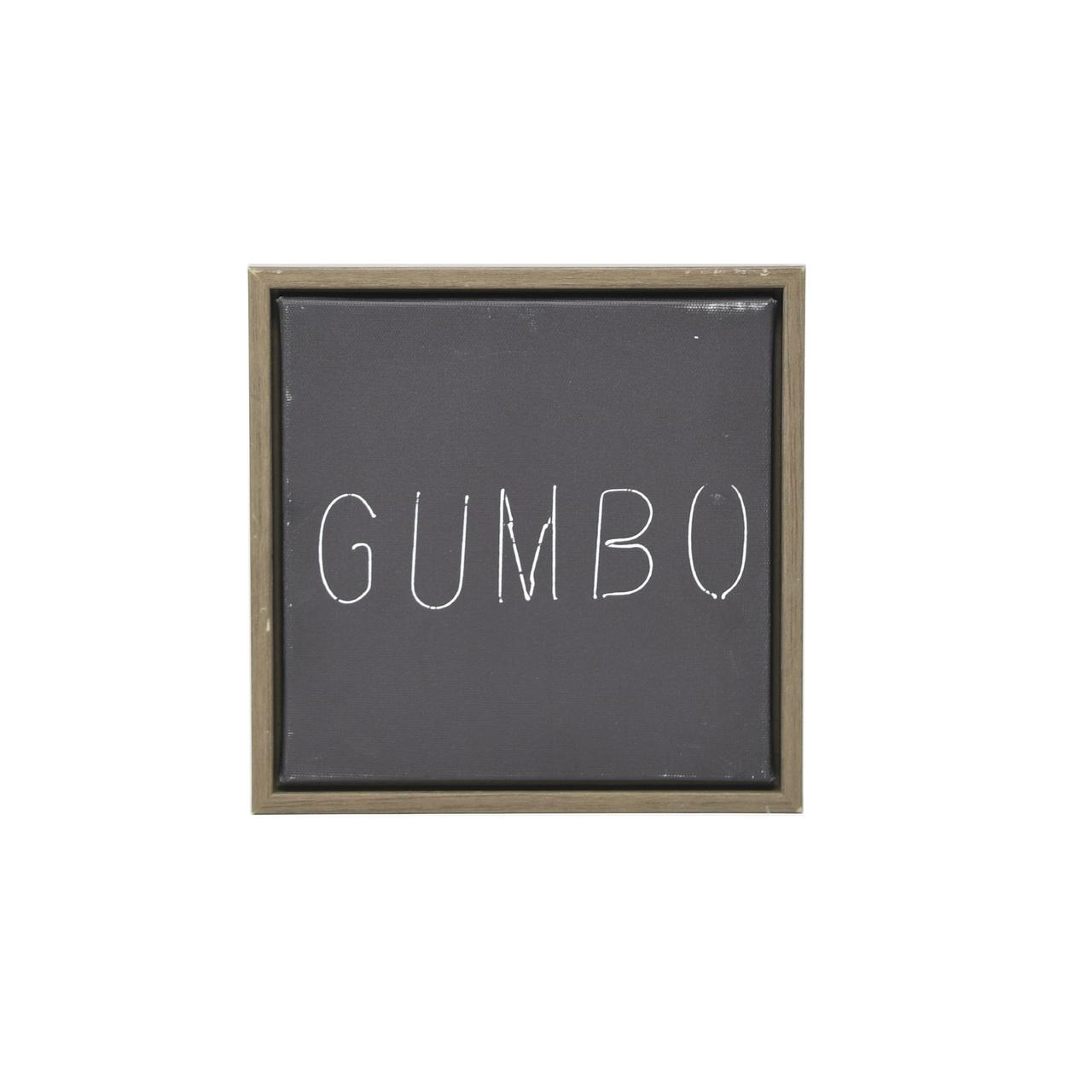 Gumbo Framed Canvas