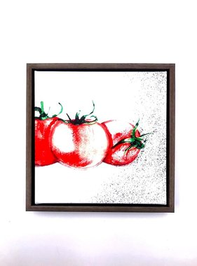 Tomato Framed Canvas