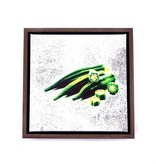 Okra Framed Canvas
