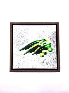 Okra Framed Canvas