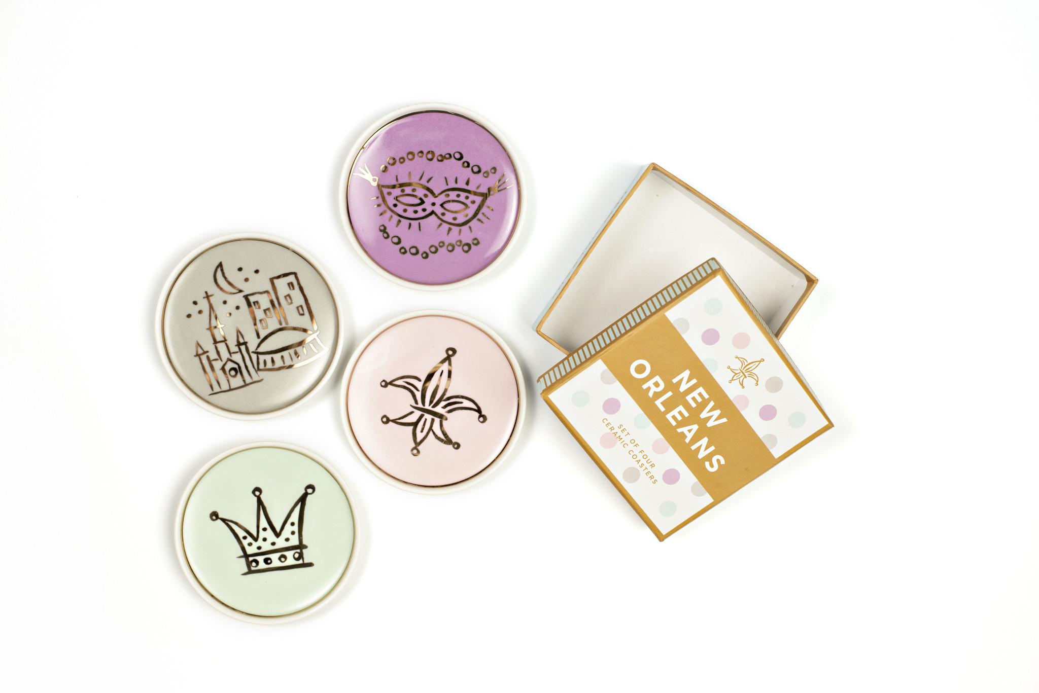 NOLA Icons Coasters, Set of 4