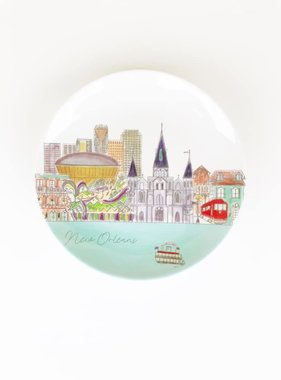 New Orleans Skyline Plate Set