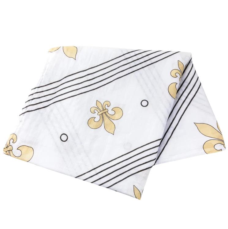 Fleur de Lis Swaddle Blanket