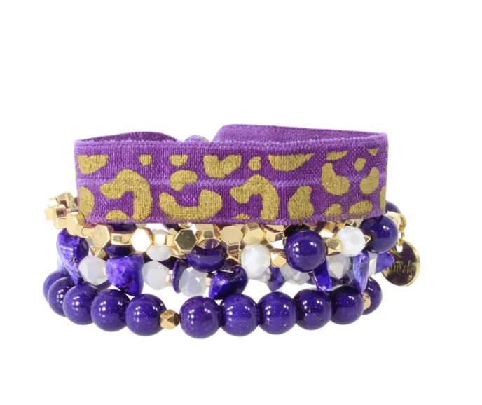 NFL Gameday Bracelet Set, Purple & Gold