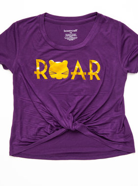 Youth Purple & Gold Roar Knotted Tee