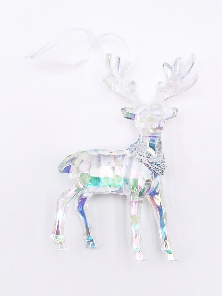 Iridescent Reindeer Ornament