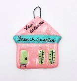 French Quarter Shotgun Ornament, Pink