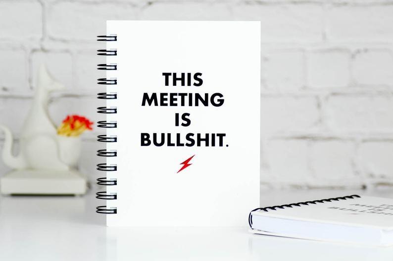 This Meeting Bullshit Journal
