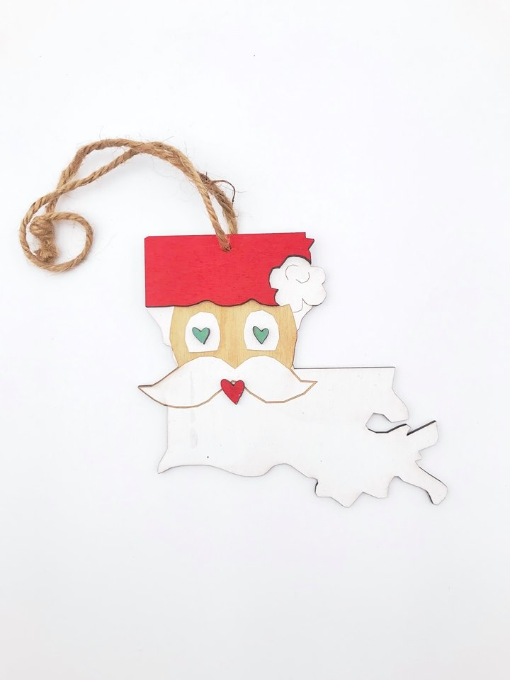 Louisiana Santa Ornament