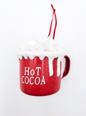 Cocoa Cup With Marshmallows Ornament