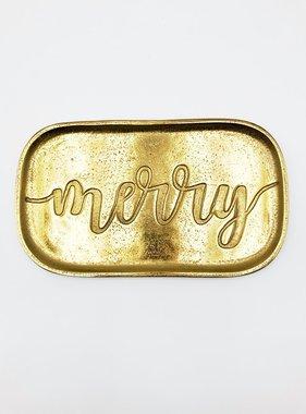 Merry Tray, Gold Aluminum