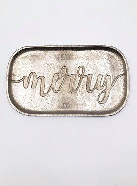 Merry Tray, Silver Aluminum