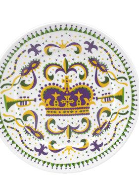 Mardi Gras Crown Plate