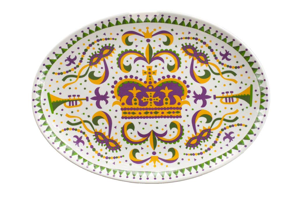 Mardi Gras Crown Platter