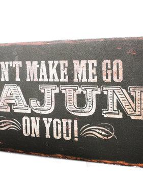 Go Cajun Box Sign