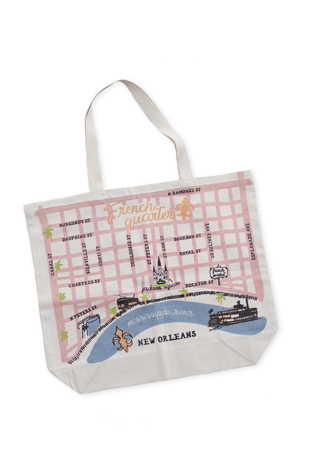 French Quarter Map Tote
