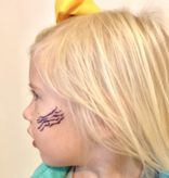 Purple & Gold Football Icons Temporary Tattoos