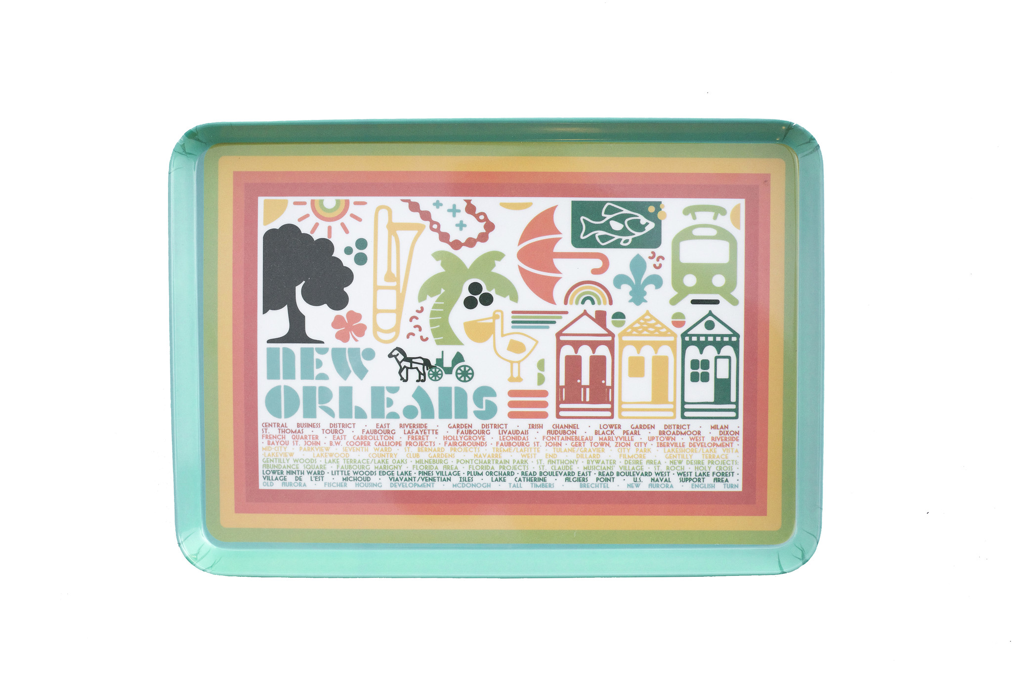 New Orleans Icons Snack Tray