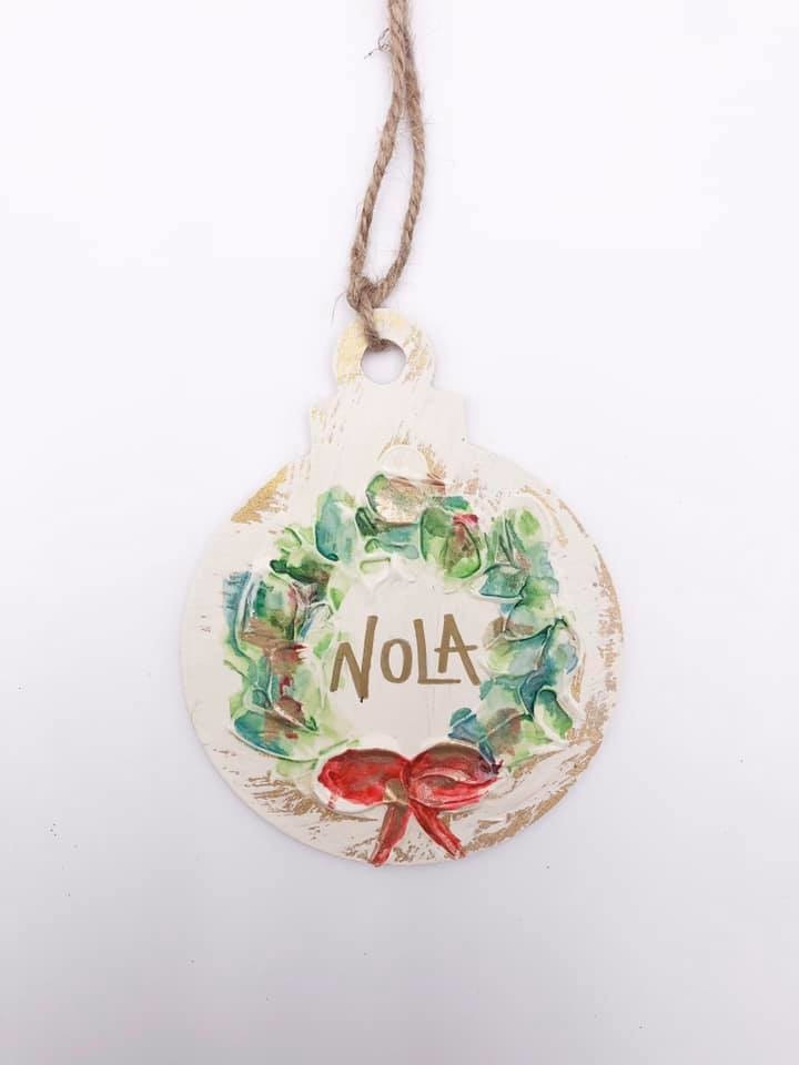 NOLA Wreath Ornament