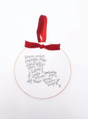 Louisiana Calligraphy Ornament