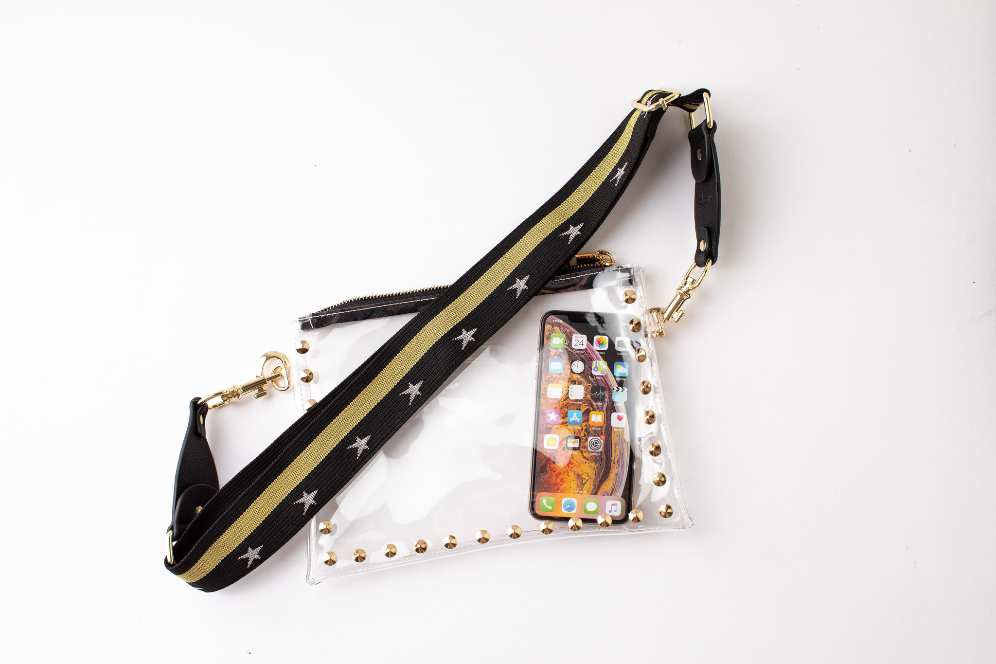 Parker Clear Bag with Starlight Black Strap