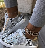 Nature Breeze Snakeskin Star Sneaker