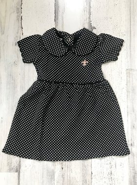 Polka Dot Fleur de Lis Dress, Kids