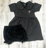 Polka Dot Fleur de Lis Dress, Kids