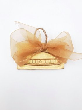Gold Stamped Superdome Ornament