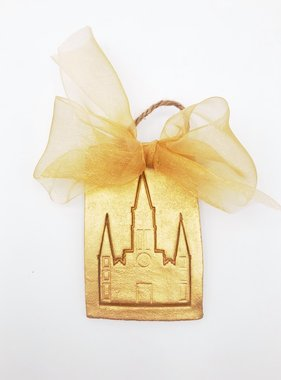 Gold Stamped Cathedral Ornament
