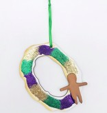 3D Wood King Cake Ornament