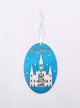 3D Wood Cathedral Ornament