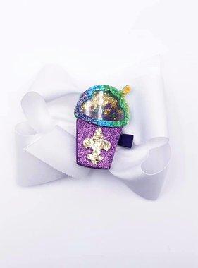Glitter Snoball Shaker Bow