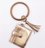 Ring Wristlet Wallet, Rose Gold