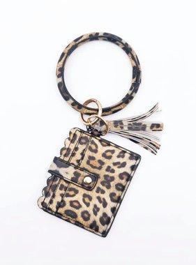 Ring Wristlet Wallet, Leopard