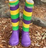Mardi Gras Stripe Rainboots
