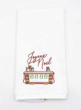 Joyeux Noel Streetcar Towel