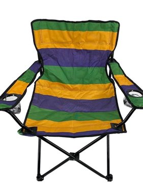 Mardi Gras Stripe Foldable Chair