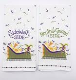 Choose Your Side Mardi Gras Towel