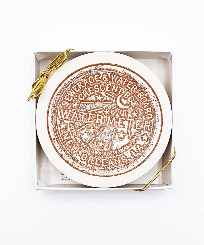 Stamped Water Meter Coaster Set