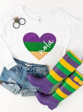 NOLA Glitter Heart Sweatshirt