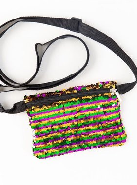 Mardi Gras Magic Sequin Crossbody Bag