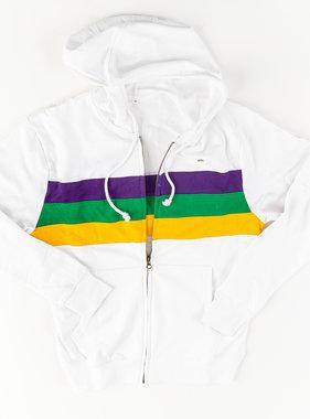 Mardi Gras Striped Chest Hoodie