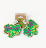 Mardi Gras Bling Earrings