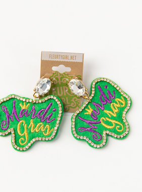 Mardi Gras Bling Earrings