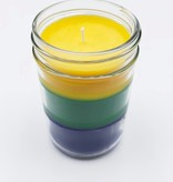 Mardi Gras Striped Jar Candle