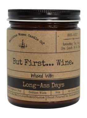 But First... Wine Candle
