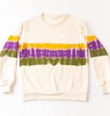 Mardi Gras Tie Dye Block Sweatshirt
