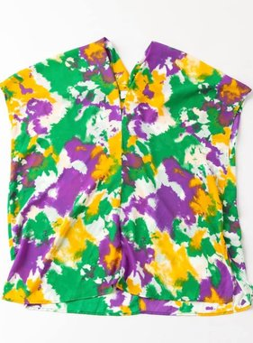 Mardi Gras Tie Dye Top